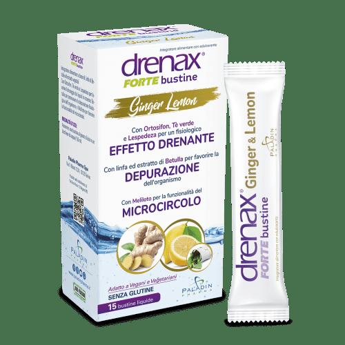 Drenax Ginger Lemon Bustine Stick Pack - 2021